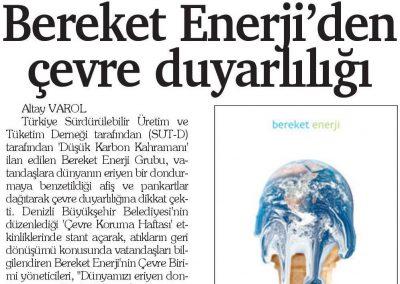 Hizmet Gazetesi (Denizli) 08.06.2017