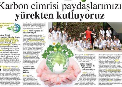 Hürriyet Karbon Ayak İzi Gazetesi 10.05.2017 s1