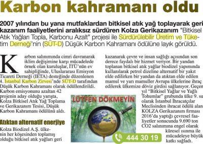 Hürriyet Karbon Ayak İzi Gazetesi 10.05.2017 s2