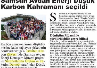 Hürriyet Karbon Ayak İzi Gazetesi 10.05.2017 s3