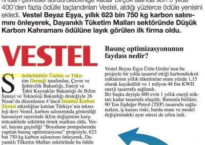 Hürriyet Karbon Ayak İzi Gazetesi 10.05.2017 s5