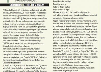 Erguvan Zamanında Kahramanlar, Sürdürülebilir Yaşam 03.05.2017