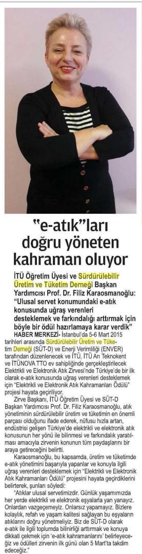 24 Saat Gazetesi 16.02.2015
