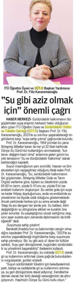 24 Saat Gazetesi 23.03.2015