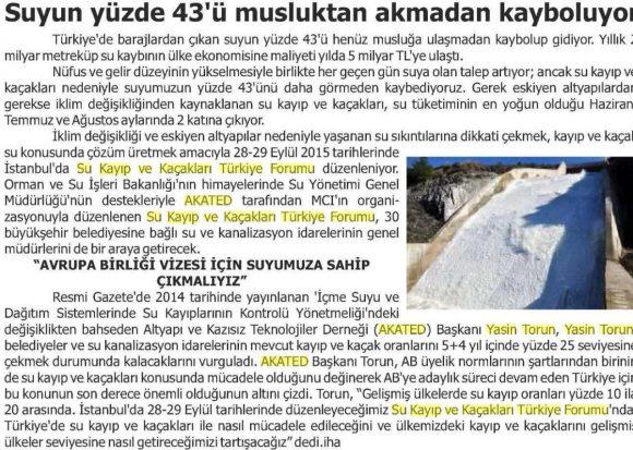 Bakış Gazetesi Aydın 12.09.2015
