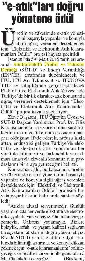 Başkent Ankara 12.02.2015
