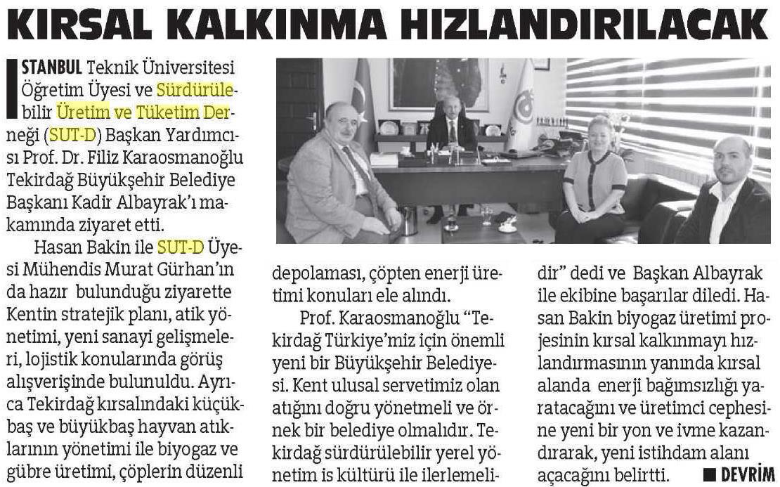 Çorlu Devrim Gazetesi 10.04.2015
