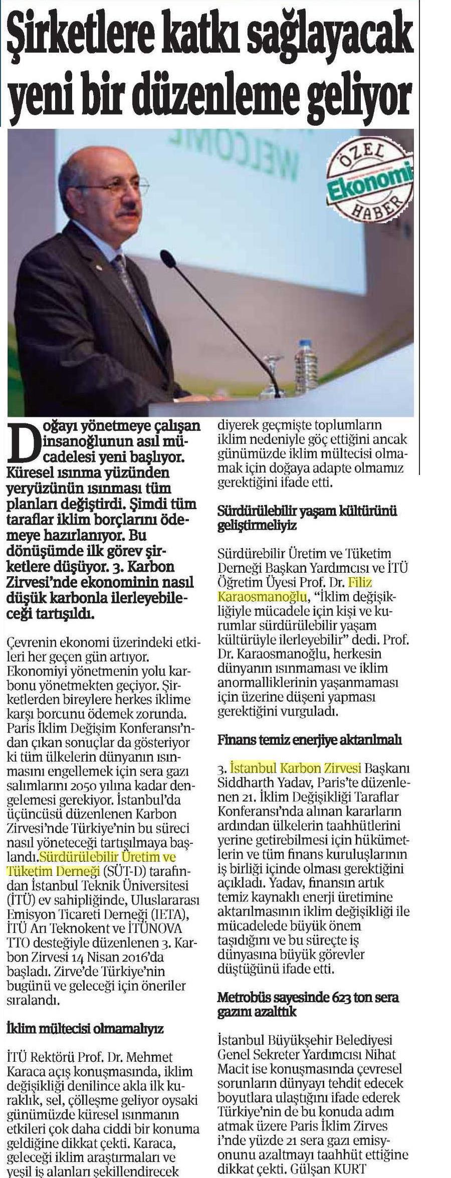 Ekonomi Gazetesi 15.04.2016