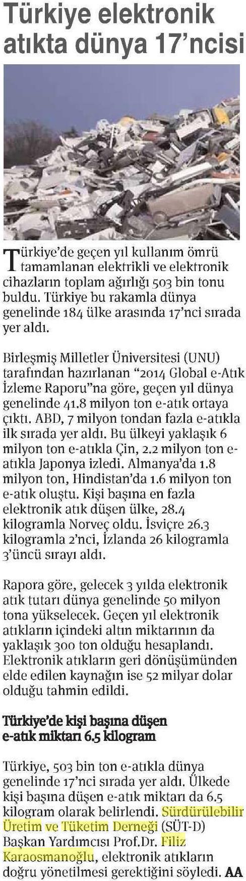 Ekonomi Gazetesi 25.04.2015