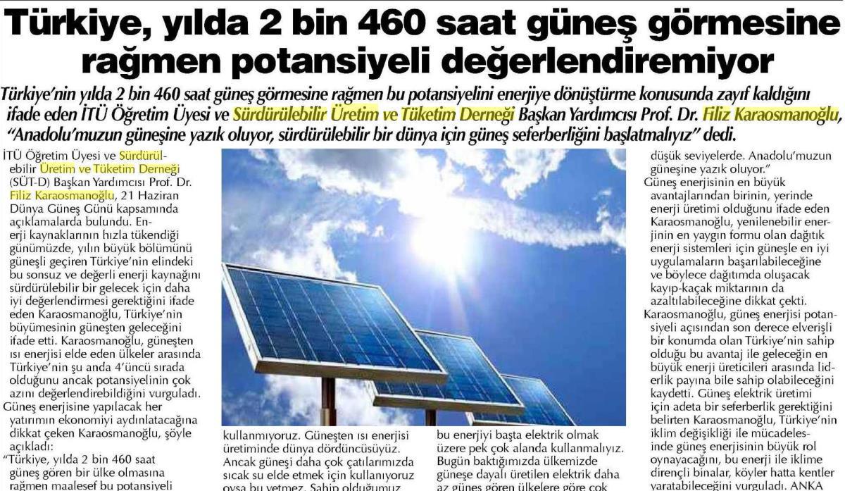 Gaziantep Sabah Gazetesi 22.06.2016