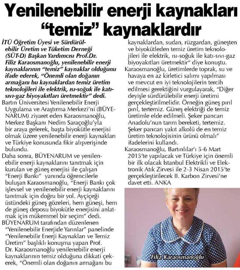 Gaziantep Sabah Gazetesi 24.12.2014