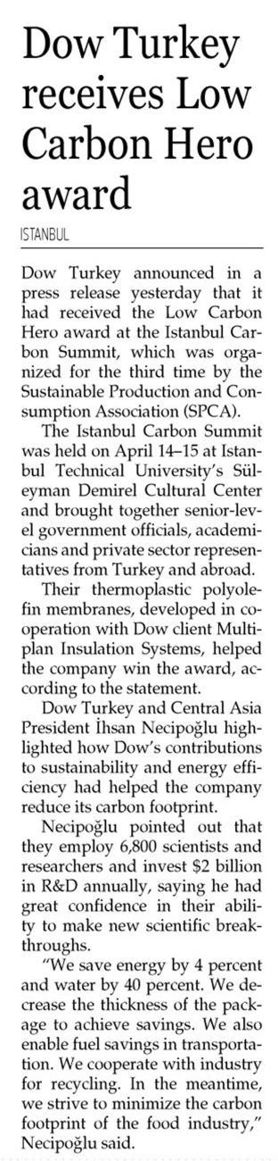 Hürriyet Daily News 22.04.2016
