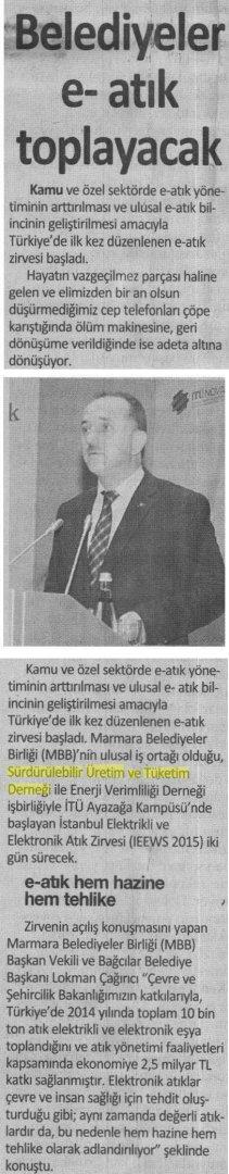 İstanbul Gazetesi 08.03.2015