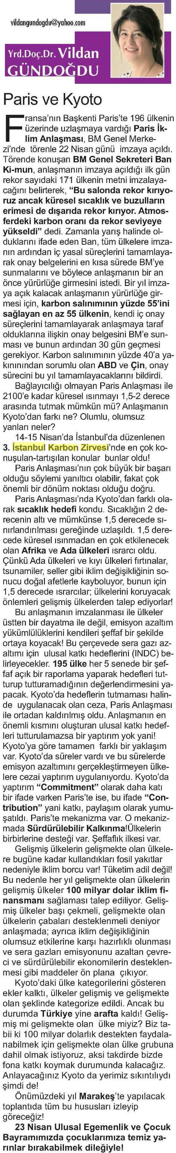 İzmir 9 Eylul Gazetesi 24.04.2016