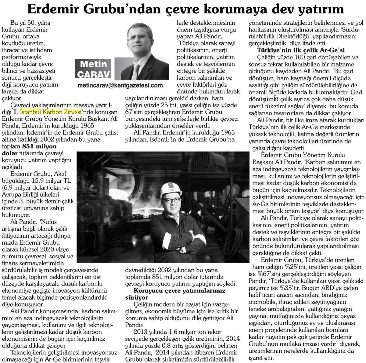 Kent Gazetesi Bursa 05.04.2015