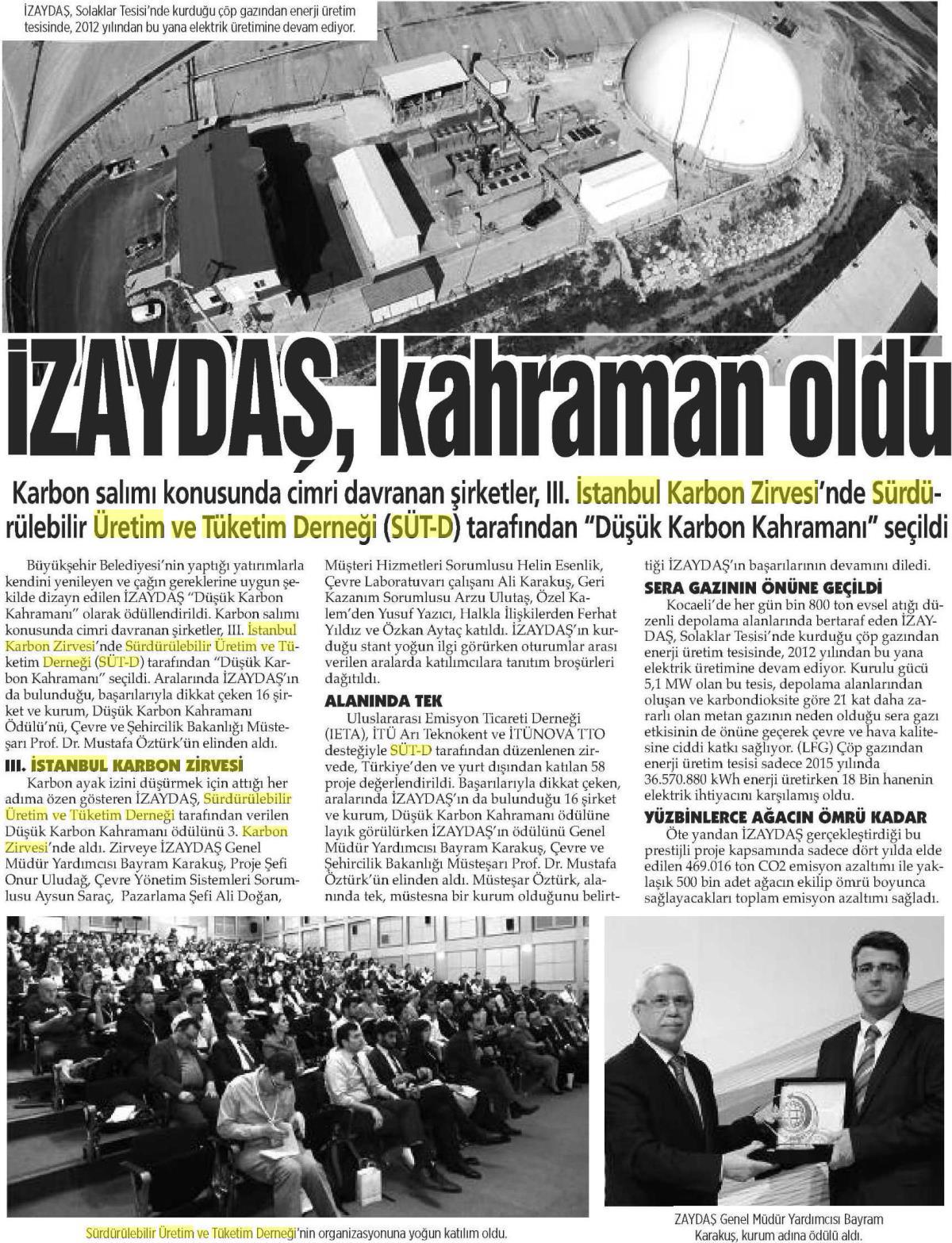 Kocaeli Manşet 30.04.2016