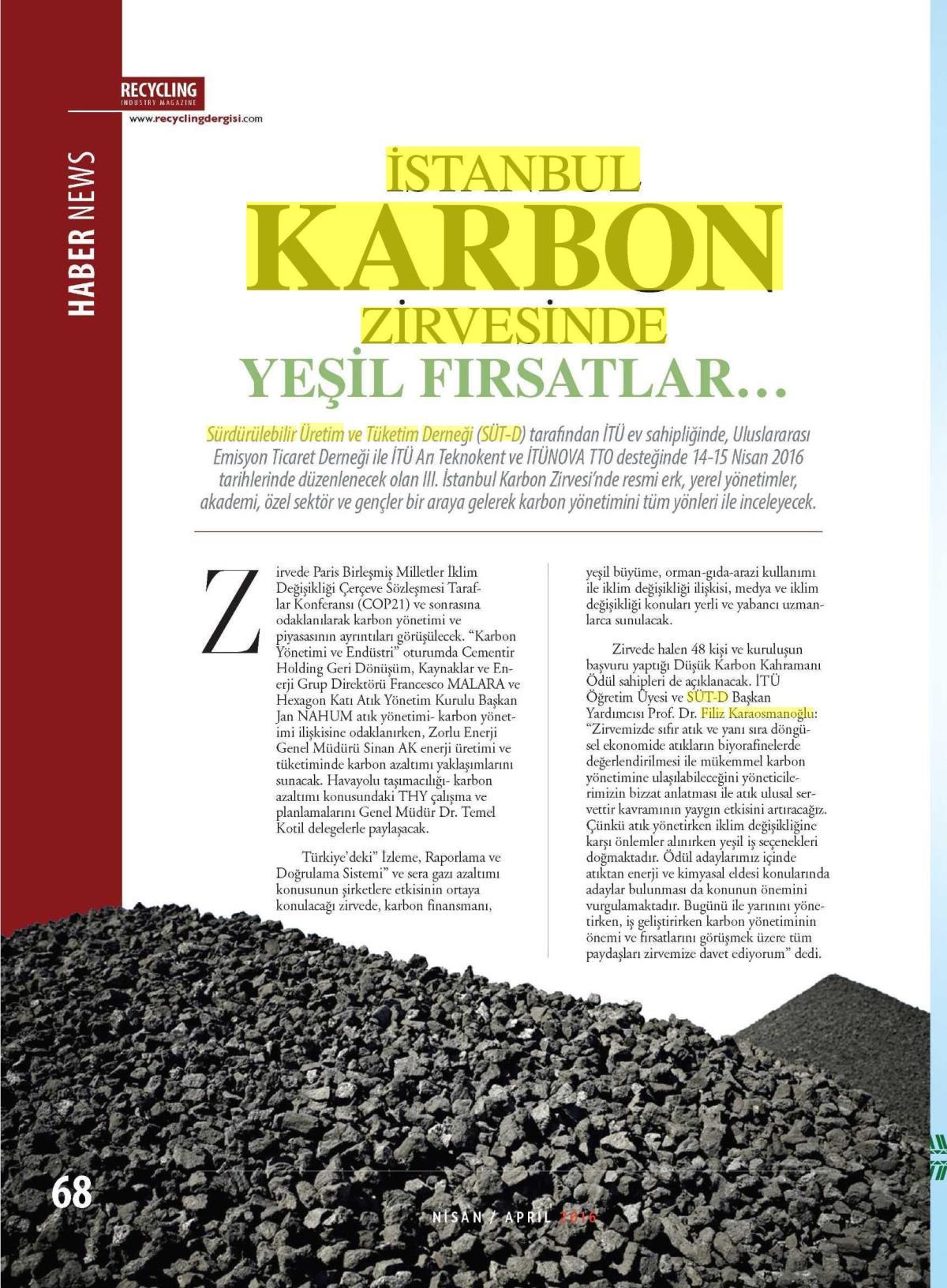Recyling Industry Dergisi 01.04.2016