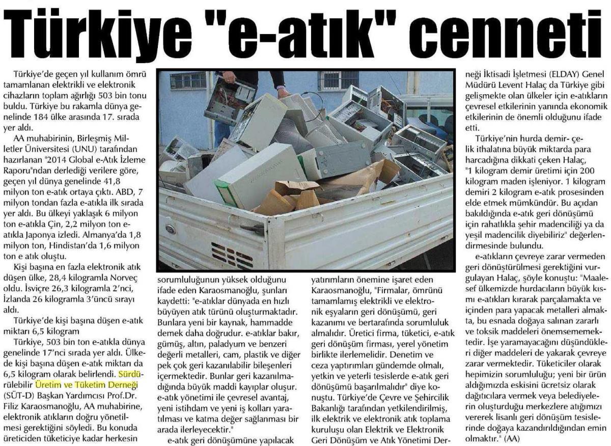 Şafak Gazetesi 23.04.2015