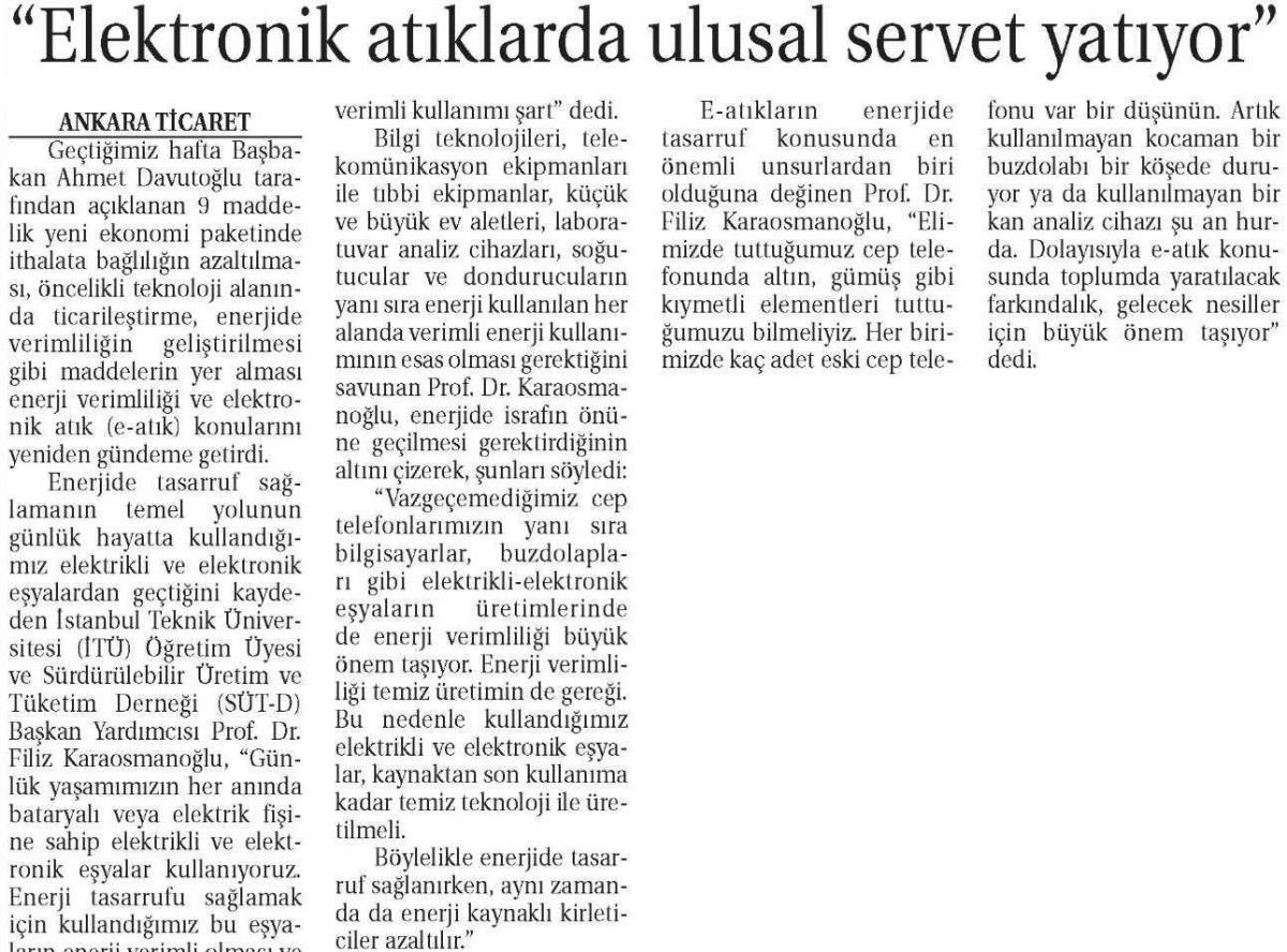 Ticaret Gazetesi 14.11.2014