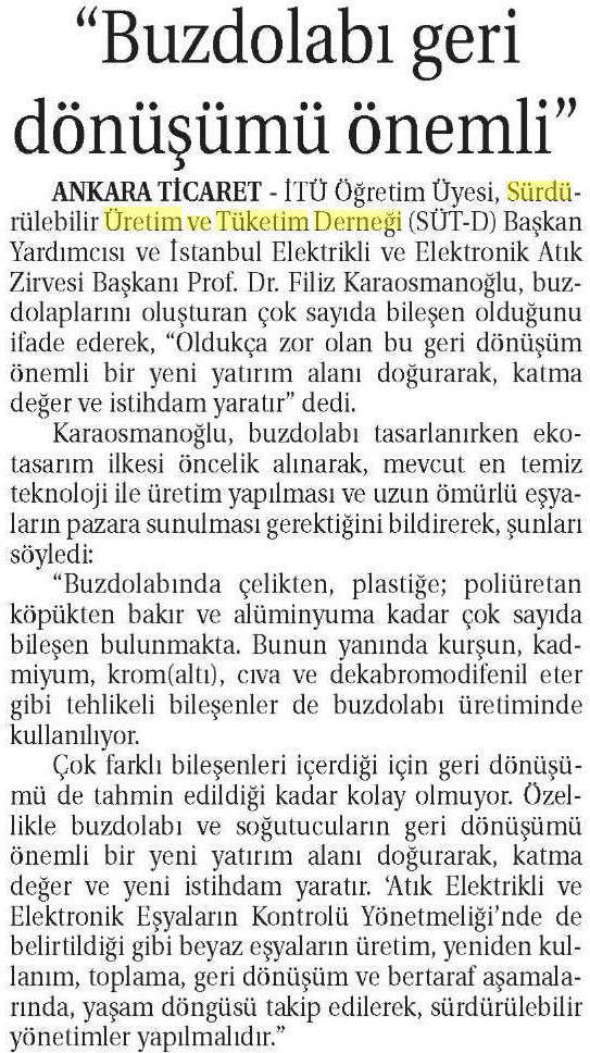 Ticaret Gazetesi 26.02.2015