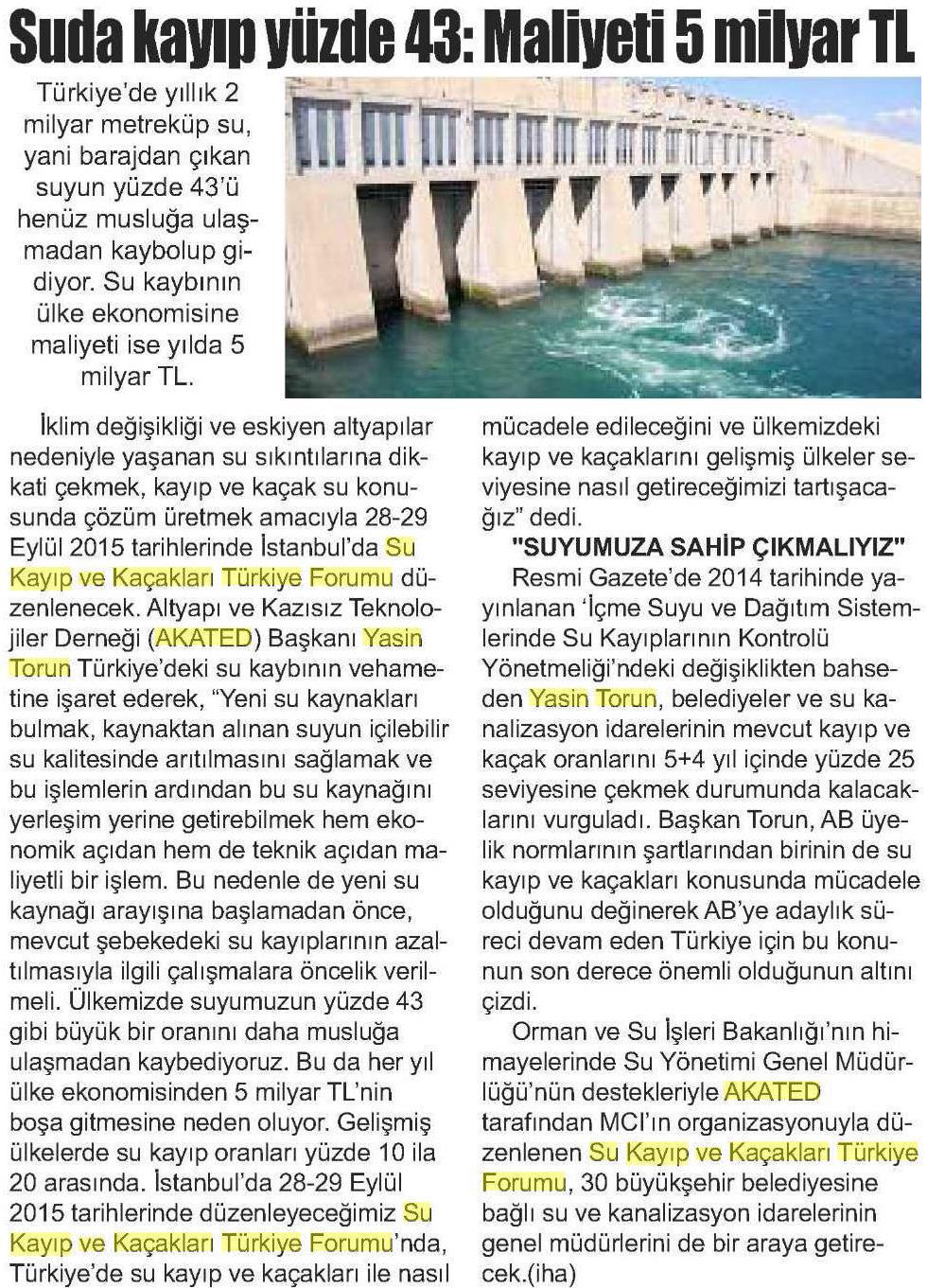 Yeni Adım Gazetesi 11.09.2015