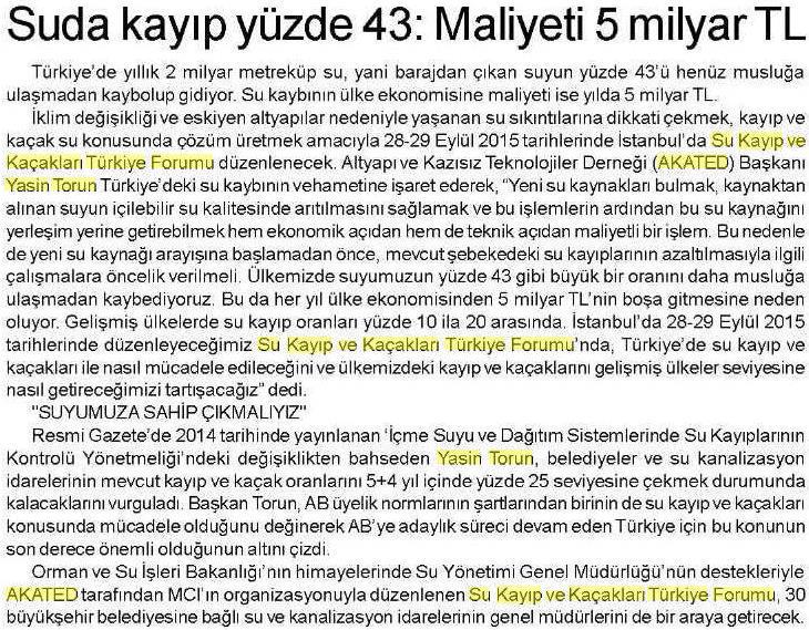 Yeni Emel Gazetesi 11.09.2015