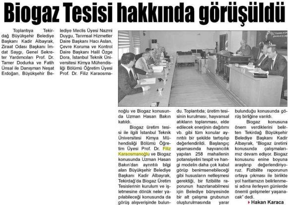 Trakya Gazetesi 06.07.2015