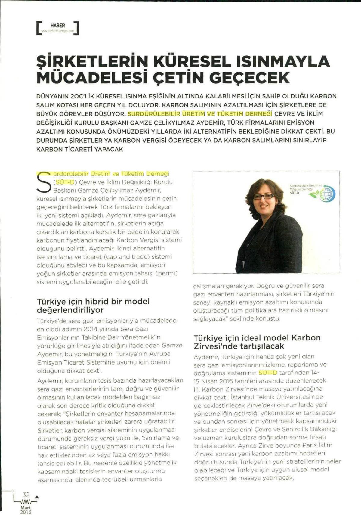 Kaynak Elektrik Dergisi 01.03.2016