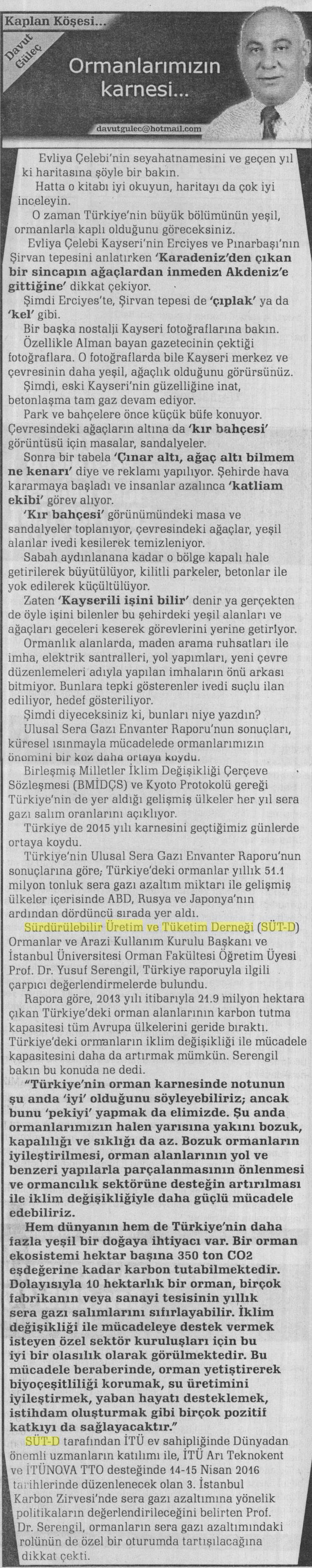 Kayseri Star Haber 21.03.2016
