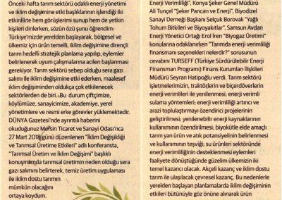 Sofraya Giden Yolda Enerji ve İklim Değişimi, Sürdürülebilir Yaşam 09.04.2018