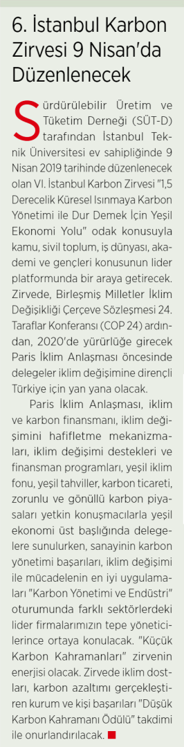 Enerji ve Cevre Dunyasi 01.01.2019