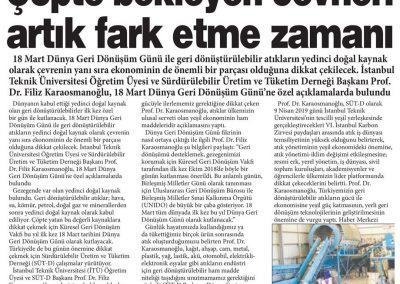Gaziantep Sabah Gazetesi 19.03.2019