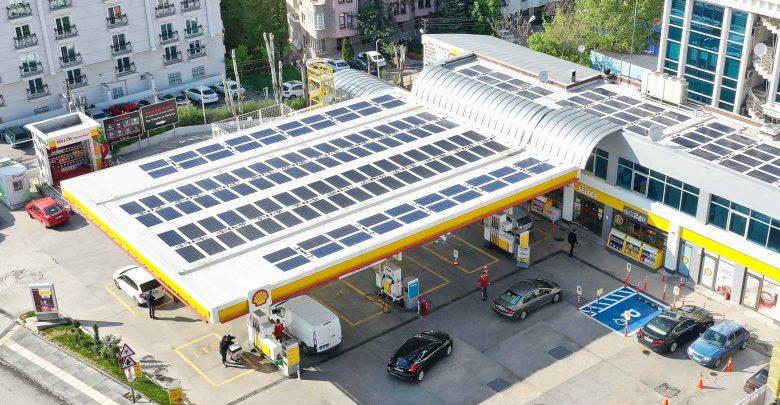 Shell & Turcas güneş enerjisi kullanan ilk istasyonunu Ankara'da açtı