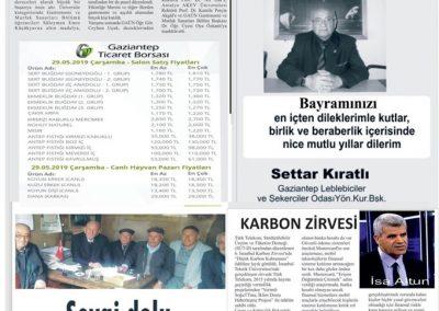 Gaziantep Haber Ajansi Bulteni 30.05.2019