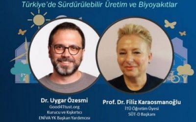 30 Mart'ta 'Türkiye'de Sürdürülebilir Üretim ve Biyoyakıtlar' Konuşulacak!